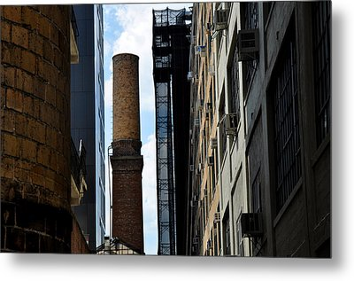 Brick Chimneys And Building New York City Metal Print by Diane Lent