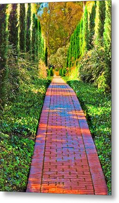Metal Print featuring the photograph Brick Path by Joseph Hollingsworth