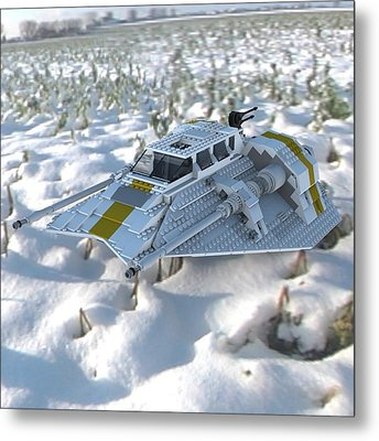 Brick Snowspeeder Ce Metal Print by John Hoagland