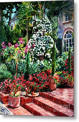 Brick Steps Metal Print by David Lloyd Glover