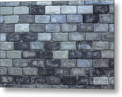 Brick Wall Background Or Texture  Metal Print by Tosporn Preede