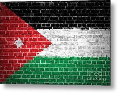 Brick Wall Jordan Metal Print by Antony McAulay