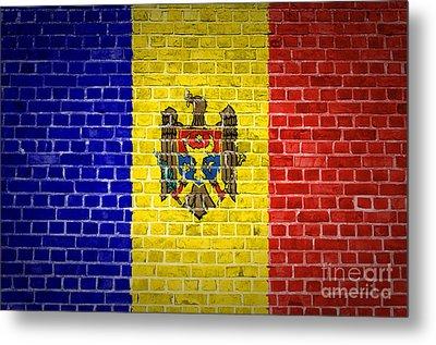 Brick Wall Moldova Metal Print by Antony McAulay