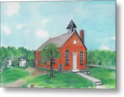 Bricktown School Metal Print by Mary Armstrong