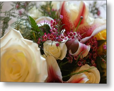 Bridal Flowers Metal Print