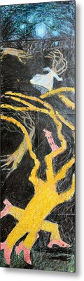 Bride In Blood Shoes - Right Metal Print by Nancy Mauerman