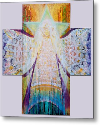 Bride Of Christ Save The Planet Metal Print by Anne Cameron Cutri