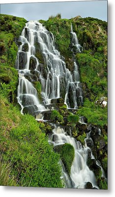 Bride's Veil Waterfall Metal Print