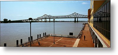 Bridge Across A River, Crescent City Metal Print by Panoramic Images