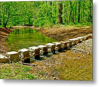 Bridge Across Colbert Creek At Mile 330 Of Natchez Trace Parkway-alabama Metal Print by Ruth Hager
