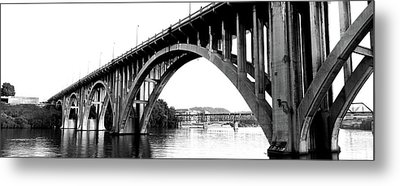 Bridge Across River, Henley Street Metal Print by Panoramic Images