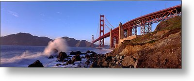 Bridge Across The Bay, San Francisco Metal Print by Panoramic Images