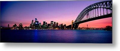 Bridge Across The Sea, Sydney Opera Metal Print by Panoramic Images