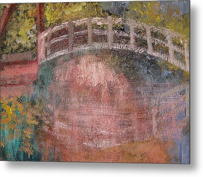 Metal Print featuring the mixed media Bridge After Monet by Diana Riukas