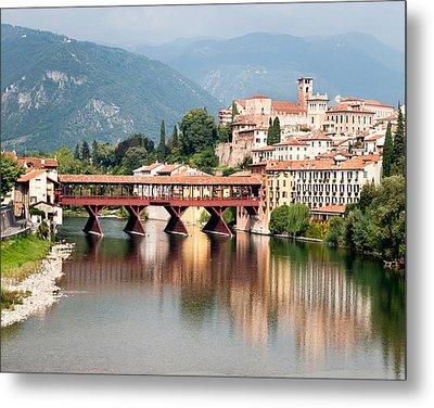 Bridge At Bassano Del Grappa Metal Print by William Beuther