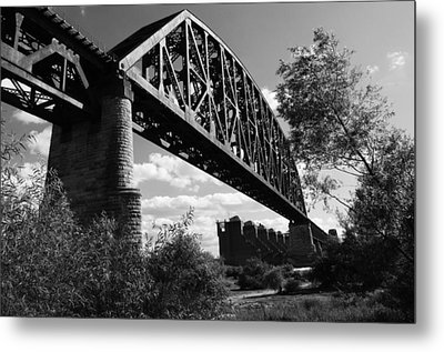 Bridge At Falls Of The Ohio Metal Print by Chris Fender