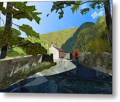 Bridge At Froggatt Metal Print by Kenneth North
