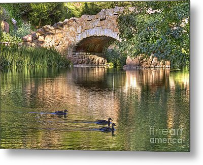 Metal Print featuring the photograph Bridge At Stow Lake by Kate Brown