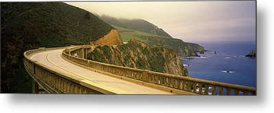 Bridge At The Coast, Bixby Bridge, Big Metal Print by Panoramic Images