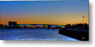 Bridge At Twilight Metal Print