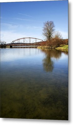 Metal Print featuring the photograph Bridge At Upper Lisle by Christina Rollo
