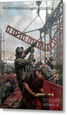 Bridge Construction 1909 Metal Print by Granger