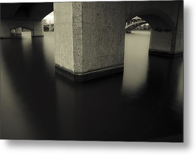Bridge Contemplations Metal Print by Dave Dilli