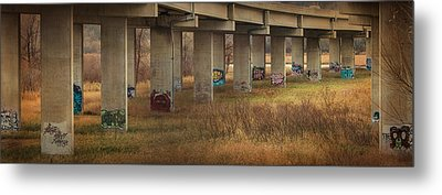 Bridge Graffiti Metal Print by Patti Deters