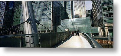 Bridge In Front Of Buildings, Canary Metal Print by Panoramic Images