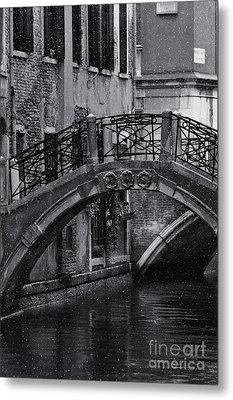 Bridge In Venice 2 Metal Print by Design Remix
