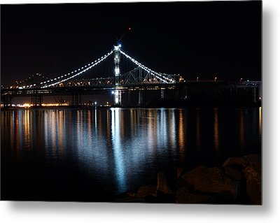 Bridge Lights Metal Print
