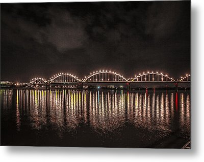 Bridge Lights Metal Print by Ray Congrove