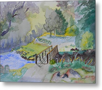 Bridge Near Enniskerry Ireland  Metal Print