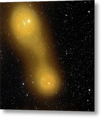 Bridge Of Gas Connecting Galaxies Metal Print by Esa Planck Collaboration/stsci Digitized Sky Survey