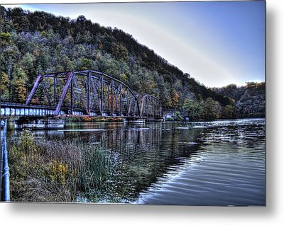 Bridge On A Lake Metal Print
