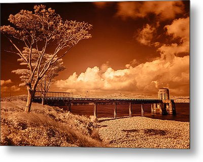 Bridge On The Lake Metal Print