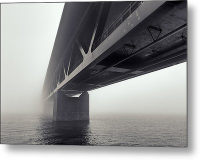 Bridge Out Of The Mist Metal Print