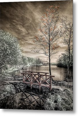 Metal Print featuring the photograph Bridge Over Calm Waters by Steve Zimic