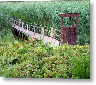 Metal Print featuring the photograph Bridge Over Eel River by Janice Drew