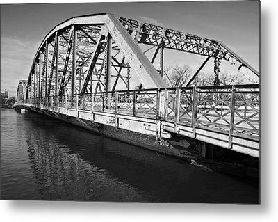 Bridge Over Flooding River Metal Print by Donald  Erickson