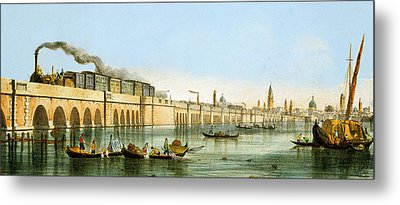 Bridge Over The Lagoon Metal Print by Giovanni Pividor