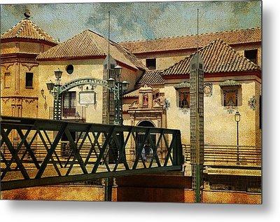 Bridge Over The River Guadalmedina In Malaga I. Spain Metal Print by Jenny Rainbow