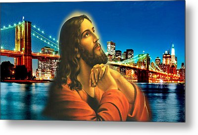 Bridge Over Troubled Waters Metal Print by Karen Showell