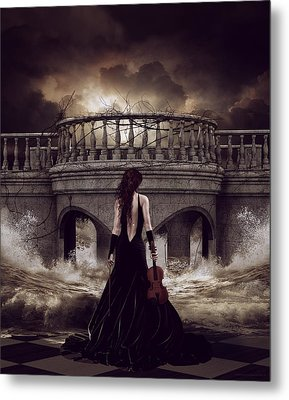 Bridge Over Troubled Waters Metal Print by Shanina Conway