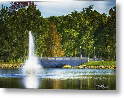 Metal Print featuring the photograph Bridge Over Troubled Waters by Skip Tribby