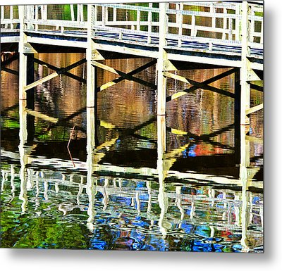 Metal Print featuring the photograph Bridge Reflections by John Harding