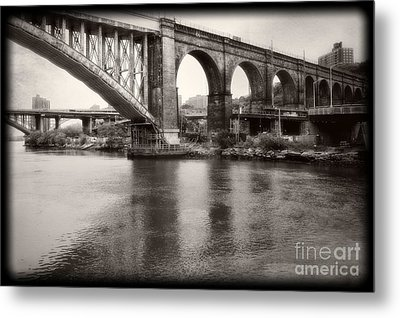 Metal Print featuring the photograph Bridge Reflections by Paul Cammarata
