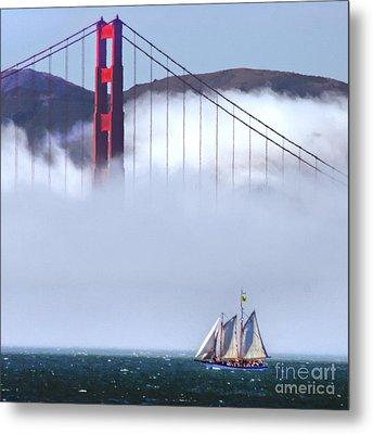 Bridge Sailing Metal Print