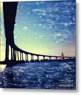 Bridge Shadow Metal Print
