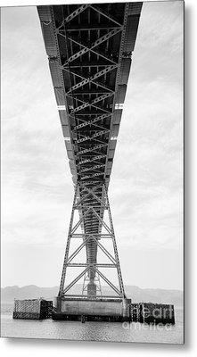 Bridge Span Metal Print by Charmian Vistaunet